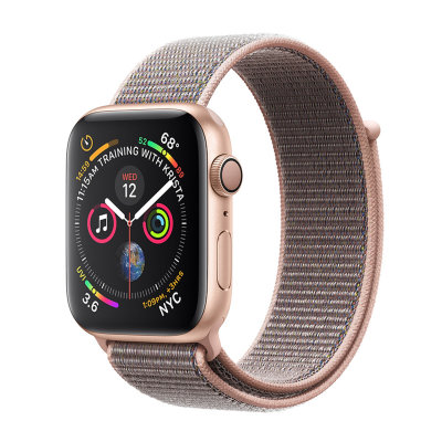 Умные часы Apple Watch Series 4 GPS 44mm Gold Aluminum Case with Pink Sand Sport Loop (MU6G2)