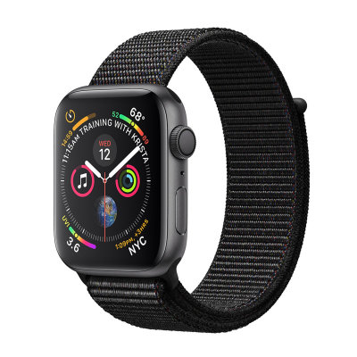 Умные часы Apple Watch Series 4 GPS 44mm Space Gray Aluminum Case with Black Sport Loop (MU6E2)
