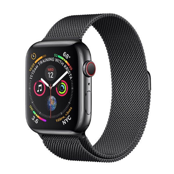 Умные часы Apple Watch Series 4 GPS+LTE 44mm Space Black Stainless Steel Case with Space Black Stainless Steel Milanese Loop (MTV62)
