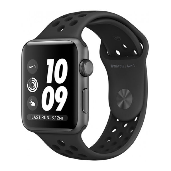 Умные часы Apple Watch Series 2 Nike+ 38mm Space Gray Aluminum Case with Anthracite/Black Nike Sport Band (MQ162)