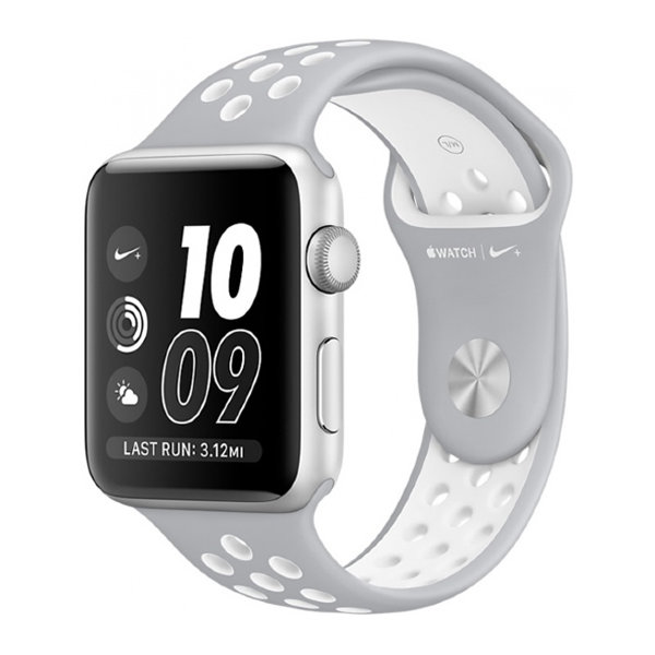 Умные часы Apple Watch Series 2 Nike+ 38mm Silver Aluminum Case with Silver/White Nike Sport Band (MNNQ2)