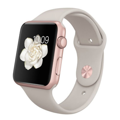Умные часы Apple Watch Sport 42mm Rose Gold Aluminum Case with Stone Sport Band (MLC62)