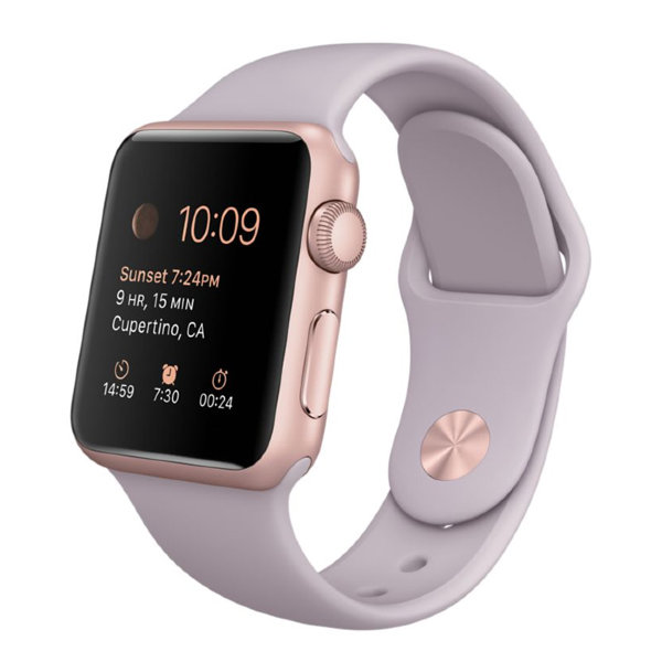 Умные часы Apple Watch Sport 38mm Rose Gold Aluminum Case with Lavender Sport Band (MLCH2)