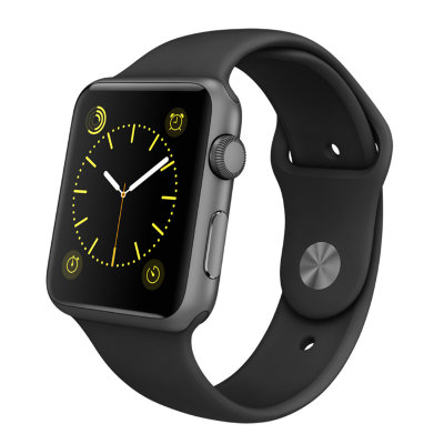 Умные часы Apple Watch Sport 42mm Space Gray Aluminum Case with Black Sport Band (MJ3T2)