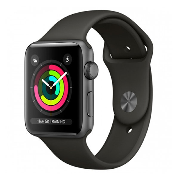 Умные часы Apple Watch Series 3 38mm Space Gray Aluminum Case with Gray Sport Band (MR352)