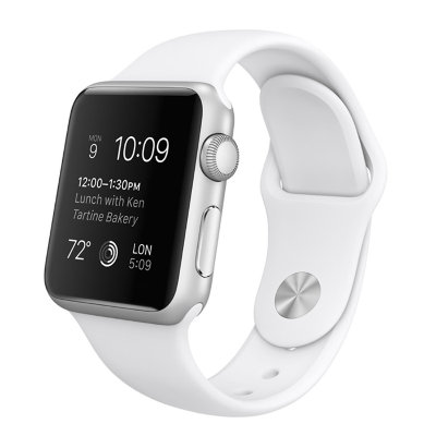 Умные часы Apple Watch Sport 38mm Silver Aluminum Case with White Sport Band (MJ2T2)