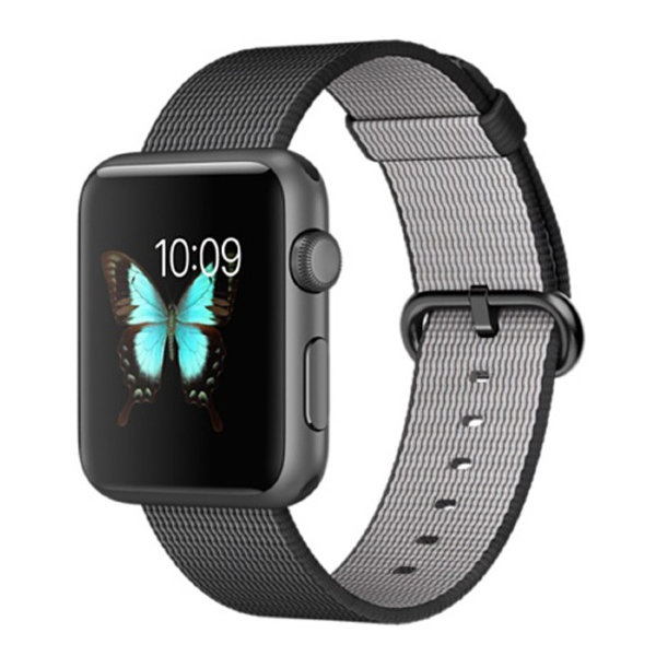 Умные часы Apple Watch Sport 42mm Space Gray Aluminum Case with Black Woven Nylon (MMFR2)