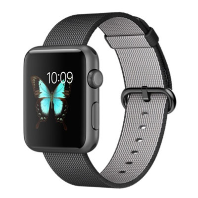 Умные часы Apple Watch Sport 38mm Space Gray Aluminum Case with Black Woven Nylon (MMF62)