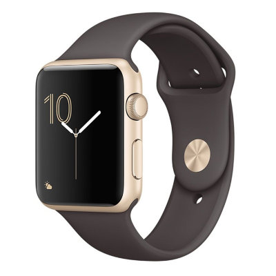 Умные часы Apple Watch Series 1 Sport 42mm Gold Aluminium Case with Cocoa Sport Band