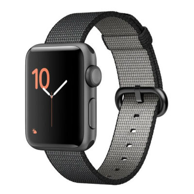 Умные часы Apple Watch Series 2 42mm Space Grey Aluminium Case with Black Woven Nylon Band (MP072)
