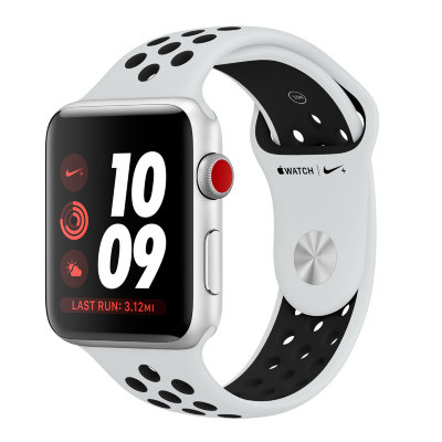 Умные часы Apple Watch Series 3 Nike+ Cellular 42mm Silver Aluminum Case with Pure Platinum/Black Nike Sport Band (MQLC2)