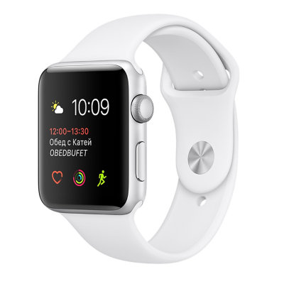 Умные часы Apple Watch Series 1 Sport 38mm Silver Aluminium Case with White Sport Band (MNNG2)
