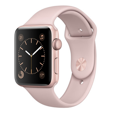 Умные часы Apple Watch Series 1 Sport 42mm Rose Gold Aluminium Case with Pink Sand Sport Band (MQ112)