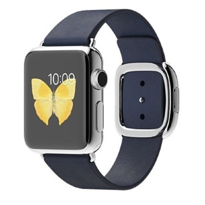 Умные часы Apple Watch 38mm Stailnless Steel Case with Midnight Blue Modern Buckle (MJ352)