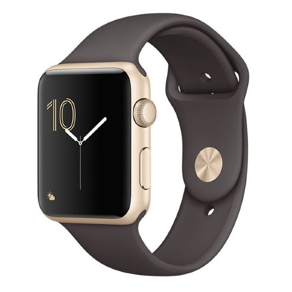 Умные часы Apple Watch Series 1 Sport 38mm Gold Aluminium Case with Cocoa Sport Band (MNNN2)