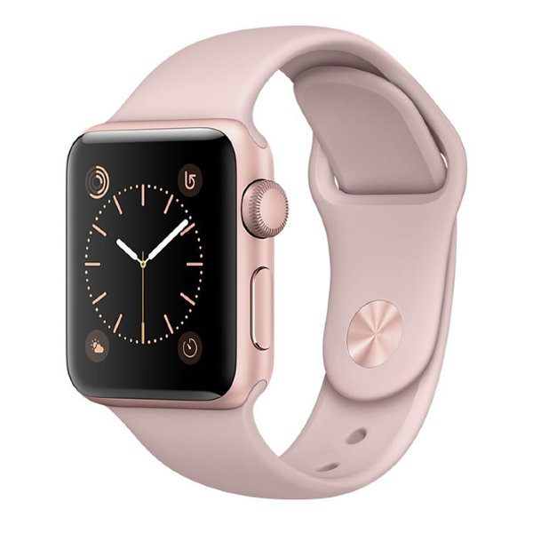 Умные часы Apple Watch Series 2 Sport 38mm Rose Gold Aluminium Case with Pink Sand Sport Band (MNNY2)