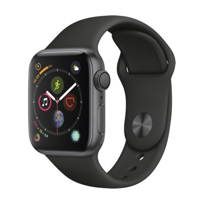 Умные часы Apple Watch Series 4 GPS 44mm Space Gray Aluminum Case with Black Sport Band (MU6D2)