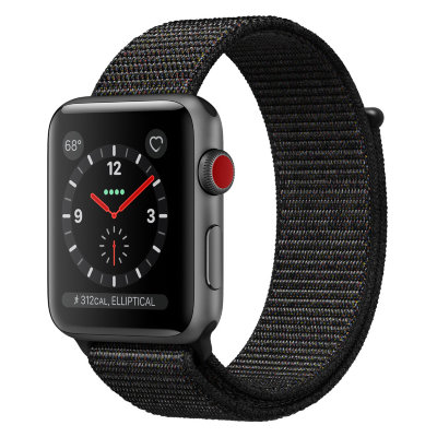 Умные часы Apple Watch Series 3 Cellular 42mm Space Gray Aluminum Case with Black Sport Loop (MRQF2)