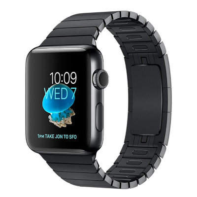 Умные часы Apple Watch Series 2 42mm Space Black Stainless Steel Case with Space Black Link Bracelet (MNQ02)