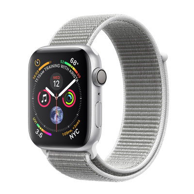 Умные часы Apple Watch Series 4 GPS 44mm Silver Aluminum Case with Seashell Sport Loop (MU6C2)