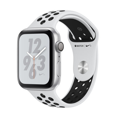 Умные часы Apple Watch Series 4 GPS 44mm Silver Aluminum Case with Pure Platinum/Black Nike Sport Band (MU6K2)