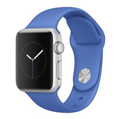 Умные часы Apple Watch Sport 38mm Silver Aluminum Case with Royal Blue Sport Band (MMF22)