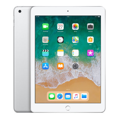 Планшет Apple iPad (2018) 128Gb Wi-Fi+LTE Silver