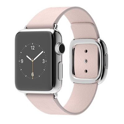 Умные часы Apple Watch 38mm Stailnless Steel Case with Soft Pink Modern Buckle (MJ362)