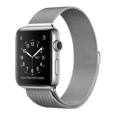 Умные часы Apple Watch Series 2 38mm Stainless Steel Case with Silver Milanese Loop (MNP62)