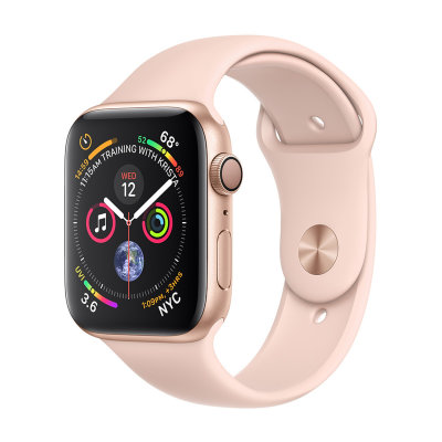Умные часы Apple Watch Series 4 GPS 44mm Gold Aluminum Case with Pink Sand Sport Band (MU6F2)